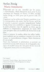 Marie-Antoinette - 4ème de couverture - Format classique