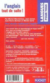 L'Anglais Tout De Suite - 4ème de couverture - Format classique