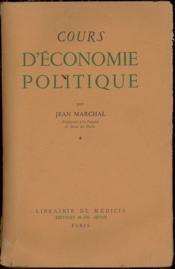 COURS D'ÉCONOMIE POLITIQUE, t. 1 seul - Couverture - Format classique