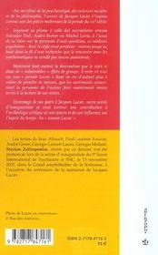 Les années Lacan - 4ème de couverture - Format classique