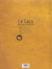 Le legs de l'alchimiste t.3 ; monsieur de saint-loup - 4ème de couverture - Format classique