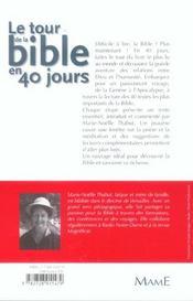 Le Tour De La Bible En 40 Jours - 4ème de couverture - Format classique