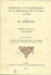 Recherches et considérations sur la population de la France - Couverture - Format classique