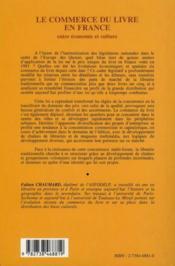 Revue Geographie Et Cultures ; Le Commerce Du Livre En France ; Entre Economie Et Culture - 4ème de couverture - Format classique