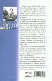Pagnol Inconnu - 4ème de couverture - Format classique