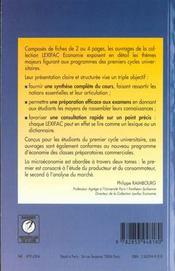 Micro economie t.2 les marches - 4ème de couverture - Format classique