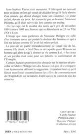 Confirmation de l'évangile par les actes et les paroles de Maître Philippe de Lyon - 4ème de couverture - Format classique