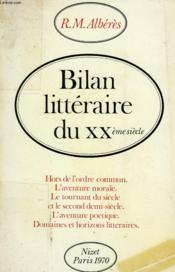 BILAN LITTERAIRE DU XXe SIECLE - Couverture - Format classique