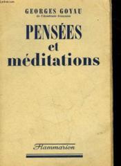 Pensees Et Meditations. - Couverture - Format classique