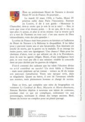 Henri IV et la providence - 4ème de couverture - Format classique
