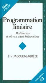 Programmation Lineaire - Intérieur - Format classique