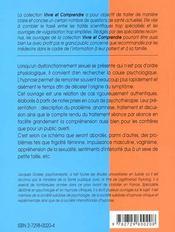 L'Hypnose En Sexologie Etudes De Cas - 4ème de couverture - Format classique