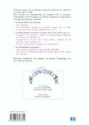 L Oral Du Concours As/Ap - 4ème de couverture - Format classique