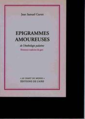 Épigrammes amoureuses de l'anthologie palatine - Couverture - Format classique