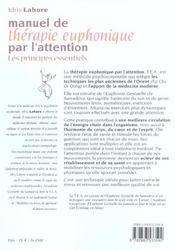 Manuel de therapie euphonique par l'attention - 4ème de couverture - Format classique