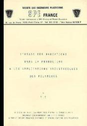 Usage Des Radiations Dans La Production Des Polymeres - Couverture - Format classique