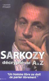 Sarkozy décrypté de a à z - Intérieur - Format classique