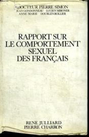 Rapport Sur Le Comportement Sexuel Des Francais. - Couverture - Format classique