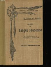 Cours De Langue Francaise - Cours Preparatoire - Couverture - Format classique