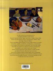 Cuisine et peinture au musée d'Orsay - 4ème de couverture - Format classique
