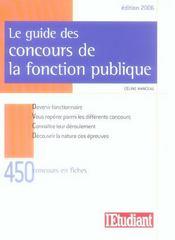 Le guide des concours de la fonctions publique (édition 2006) - Intérieur - Format classique