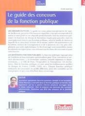 Le guide des concours de la fonctions publique (édition 2006) - 4ème de couverture - Format classique