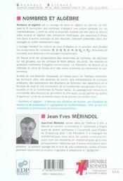 Nombres Et Algebre - 4ème de couverture - Format classique