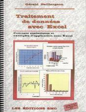 Traitement De Donnees Avec Excel: Concepts Statistiques & Exemples D'Application Avec Excel (Avec Cd - Couverture - Format classique