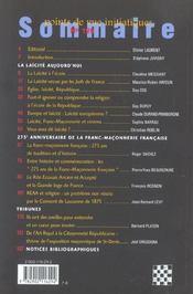 Points De Vue Initiatiques N.129 ; Du Temple A La Cite ; Fraternite Spirituelle, Citoyenneté Laïque - 4ème de couverture - Format classique
