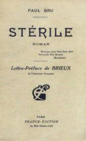 Stérile - Couverture - Format classique