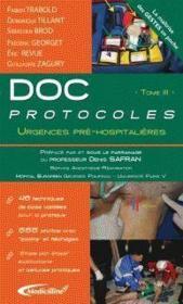Doc Protocoles T.3 : Urgences Pre-Hospitalieres - Couverture - Format classique