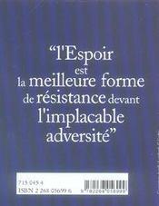 Le petit livre de l'espoir - 4ème de couverture - Format classique