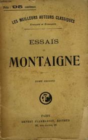 Essais De Montaigne. Tome 2. - Couverture - Format classique