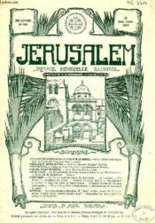 JERUSALEM, 30e ANNEE, N° 186, JUILLET-AOUT 1935, REVUE MENSUELLE ILLUSTREE - Couverture - Format classique