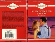 Si Vous Vouliez Carson - Baby Abroad - Couverture - Format classique
