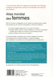 Atlas mondial des femmes ; les paradoxes de l'émancipation - 4ème de couverture - Format classique
