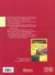 Histoire 1re l es manuel 2003 - 4ème de couverture - Format classique