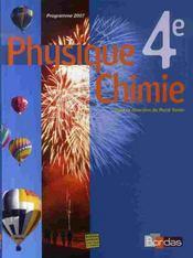 Vento ; physique chimie ; 4ème ; manuel (édition 2007) - Intérieur - Format classique