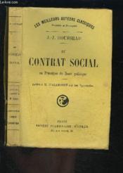 Du Contrat Social Ou Principes Du Droit Politique- Lettre A M. D Alembert Sur Les Spectacles - Couverture - Format classique
