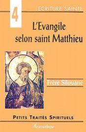 L'Evangile selon Saint Matthieu - Couverture - Format classique