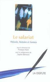 Le salariat ; théorie, histoire et formes - Intérieur - Format classique