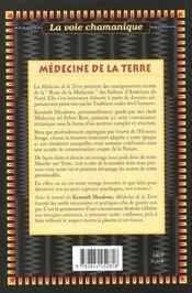 Medecine de la terre - 4ème de couverture - Format classique