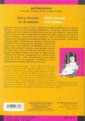 Zahra, favorita de al-andalus - 4ème de couverture - Format classique