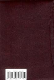 La bible des peuples (format poche - nouvelle edition) - 4ème de couverture - Format classique