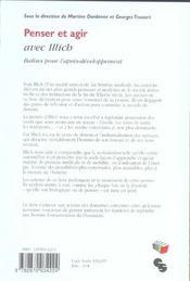 Penser Et Agir Avec Illich-Balise Pour L'Apres-Developpement - 4ème de couverture - Format classique