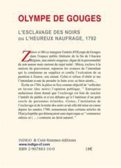 Esclavage Des Noirs 1792 - 4ème de couverture - Format classique
