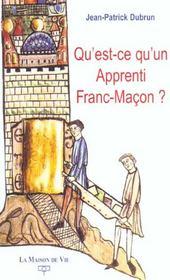 Qu'Est Ce Qu'Un Apprenti Franc Macon ? - Intérieur - Format classique