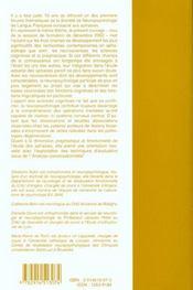 Actualites en pathologie du langage et de la communication - 4ème de couverture - Format classique