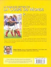 La fabuleuse histoire de la coupe du monde - 4ème de couverture - Format classique