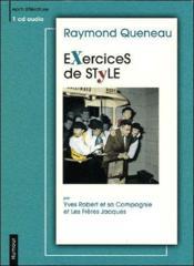 Exercices de style - Couverture - Format classique